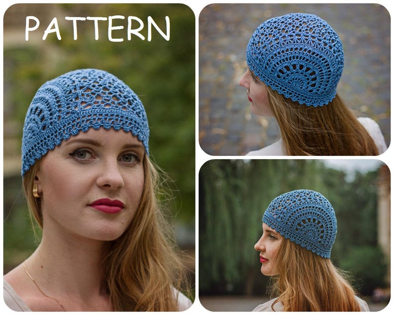 b60fc946a62 Crochet Summer Hat Pattern PDF Unique Handmade Scheme For