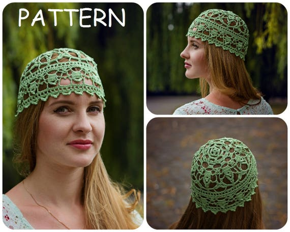 Lace Crochet Hat Pattern DIY Crocheters Gift Womens Hat  ec715e6a6ea