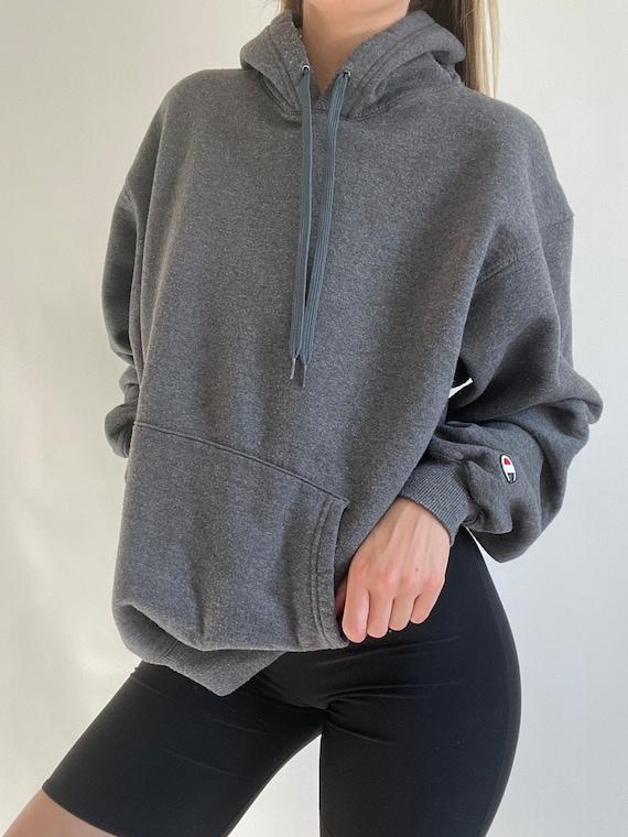 90s dark grey Champion pullover sweater, size larg