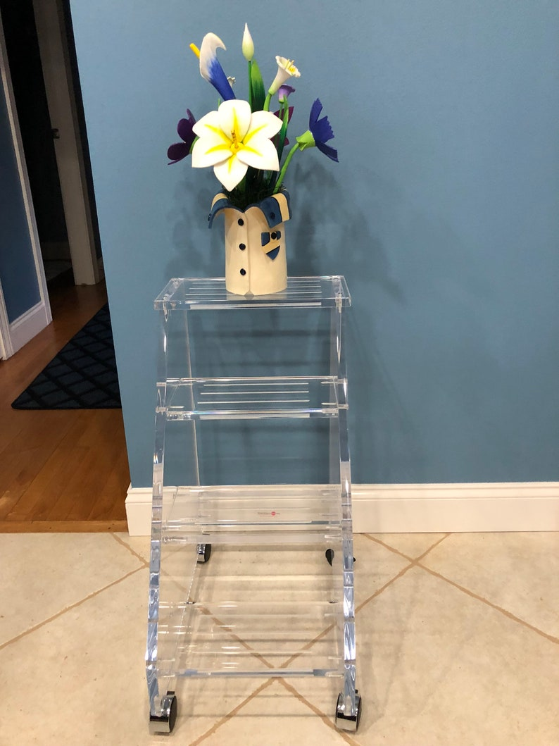 Marvelous Clear Acrylic Lucite Four Step Stool Gmtry Best Dining Table And Chair Ideas Images Gmtryco