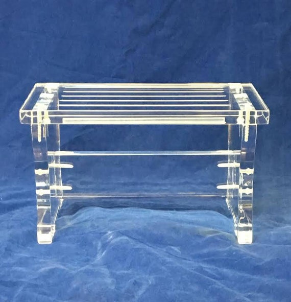 Astounding Clear Acrylic One Step Stool Gmtry Best Dining Table And Chair Ideas Images Gmtryco