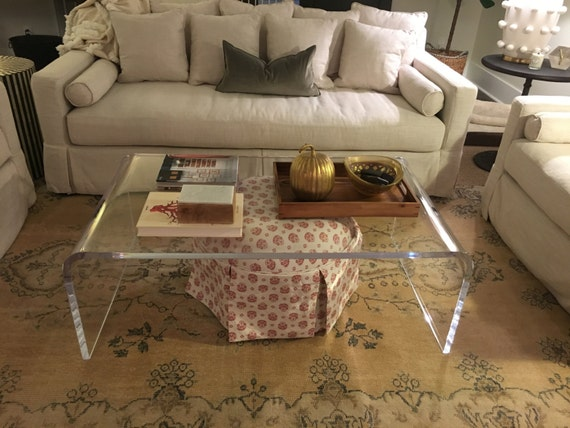 Clear Lucite Acrylic 1 Thick Coffee Table | Etsy