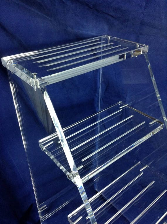 Admirable Clear Acrylic Three Step Stool Gmtry Best Dining Table And Chair Ideas Images Gmtryco