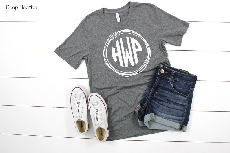 1062bfc19a228 Monogrammed Bella Canvas Shirt Short Sleeve Personalized Tee - Over 90  Color choices! Monogram