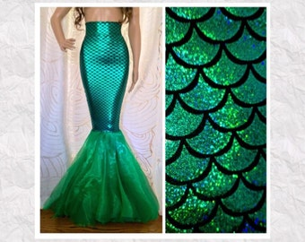 dc994a0def4e Fish Scale Mermaid Costume Tail Skirt - Sexy High Waist - Adult Halloween  Costume