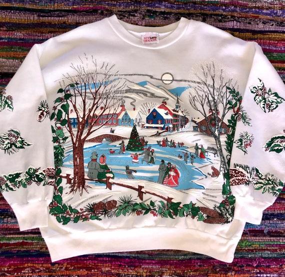 Vintage Christmas Sweatshirt, Vintage Sweatshirt,