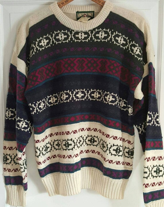 Vintage Knit Sweater, Knit Sweater, Vintage Sweate