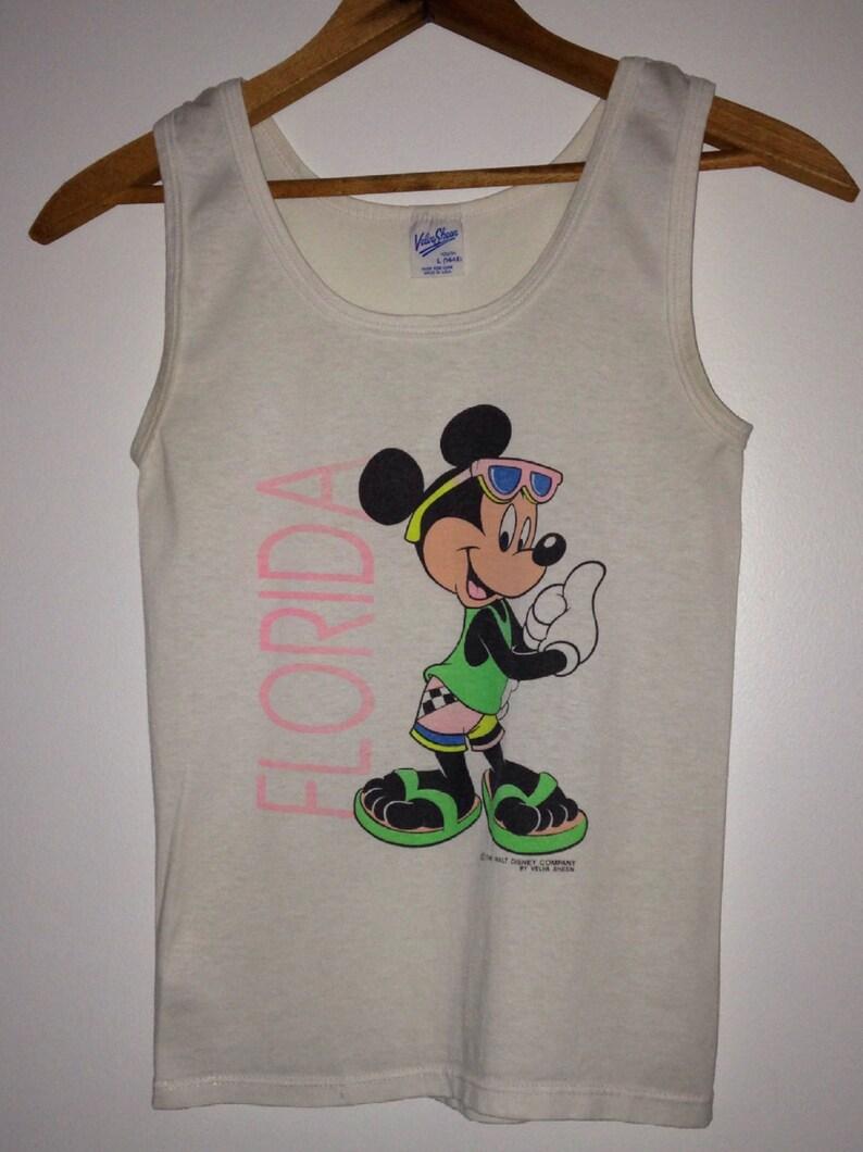 07e1bb6dbde81 Vintage Tank Top 70s Tank Top Disney Shirts Mickey Mouse