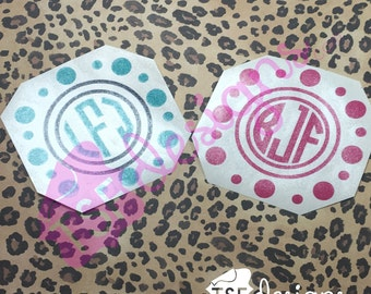 Dots/Circles with Monogram decal