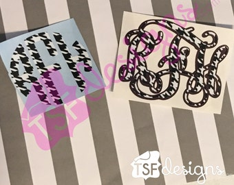 Patterned Alabama inspired decal