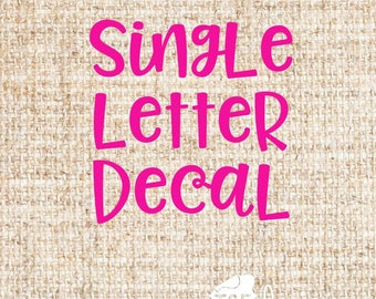 Single Letter Decal