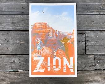 Zion National Park Poster 11x17