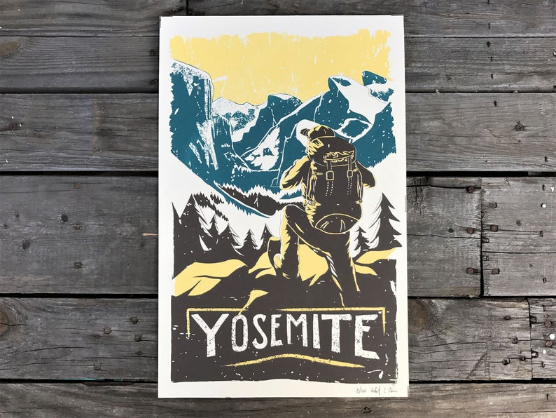 Yosemite National Park Poster 11x17 image 0