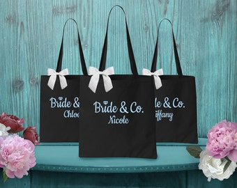 Personalized Bridesmaid Gift. Bridesmaid Tote. Bridesmaid Bag. Wedding Party Gift. Maid of Honor Gift. Bridal Party Gift.