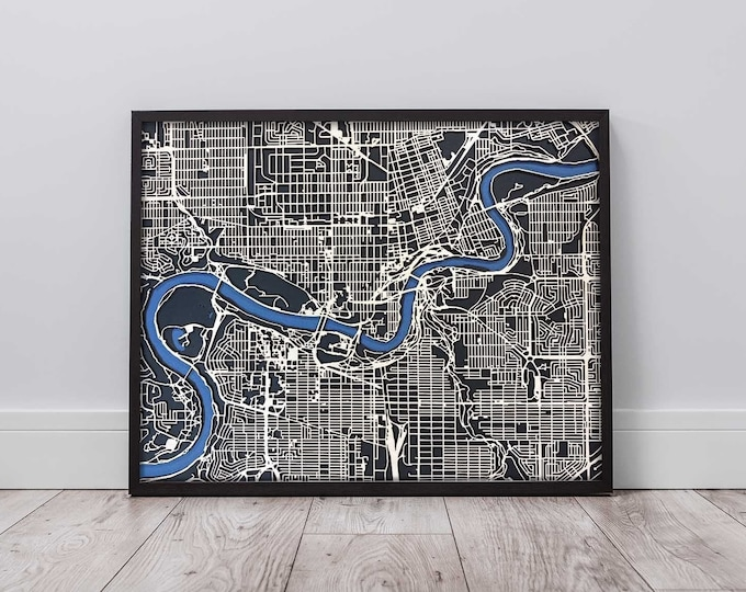 """Custom City Map 16""""x 20"""" 