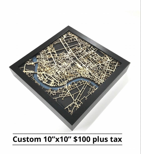 """Custom 10""""x10"""" map, name your location and we will crest you a totally unique creation just for you."""