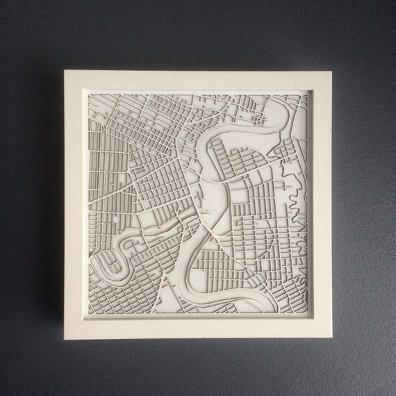 "Winnipeg Laser cut maps. For an additional 40 charge these maps can be customozed to any city in the world. 9""x 9"""