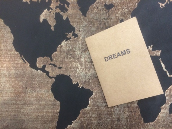dream notebook, dream notepad, Perfect dream journal, sketchbook, or for writing. Great gift for the dreamer in your life