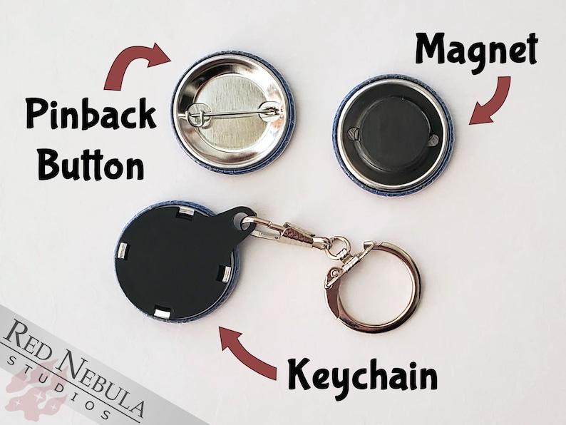 or Keychain Magnet 1.25 I Love Halflings Button Hobbit Feet Pinback Button