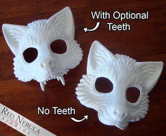 Wolf Animal Spirit Wall Decoration Costume Party Masquerade Mask DIY White