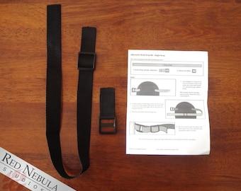 """Adjustable Mask Strap Kit, Polypropylene Strap, Face Mask Strap, Strap for Masks, 1"""" Poly Webbing Strap, Black Poly Strap, Mask Strap Set"""