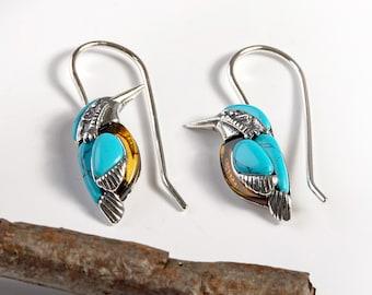 Bird Jewellery Silver Kingfisher Jewellery Bird Stud Earrings Silver Bird Earrings Silver Kingfisher Earrings Kingfisher Stud Earrings
