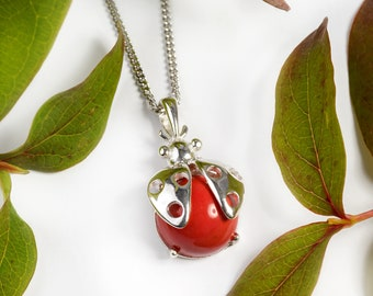 inspired by the Ladybug magnets from the 70s and 80s Ladybug Necklace