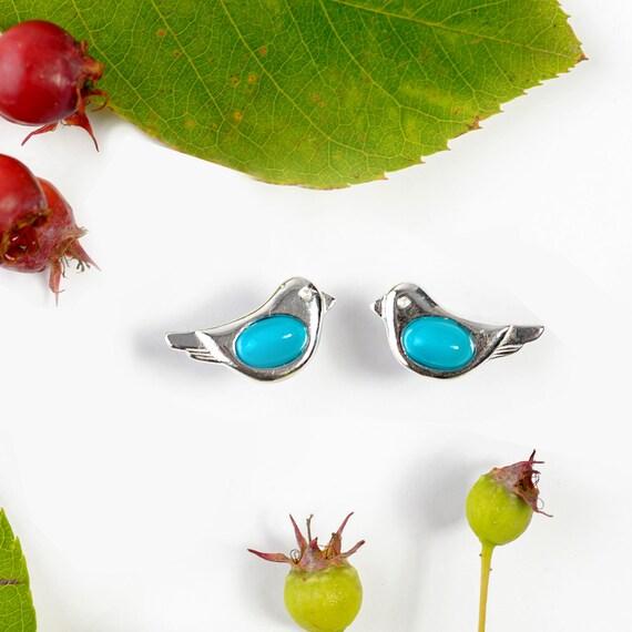 gemstone jewelry howlite bird earrings Turquoise bird earrings gemstone bird earrings turquoise jewelry bird earrings bird jewelry