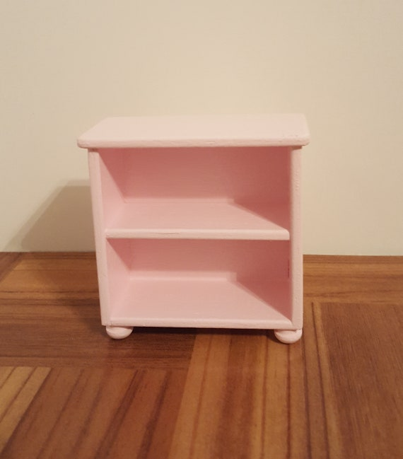 """Miniature /""""First Year/""""Baby Book Pink //Silver:DOLLHOUSE Miniatures 1:12 Scale"""