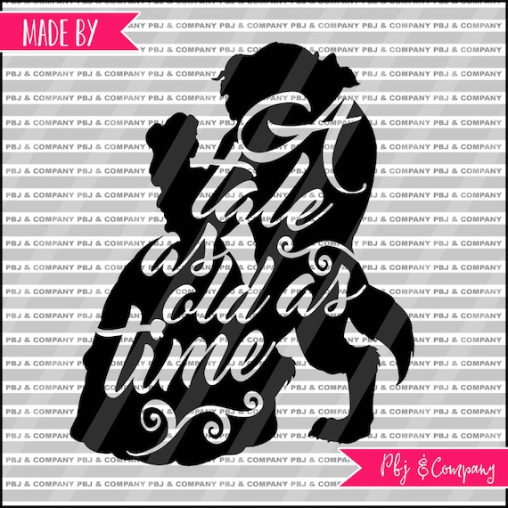 Belle And Beast Svg Princess Svg Quote Diy Cutting File Etsy