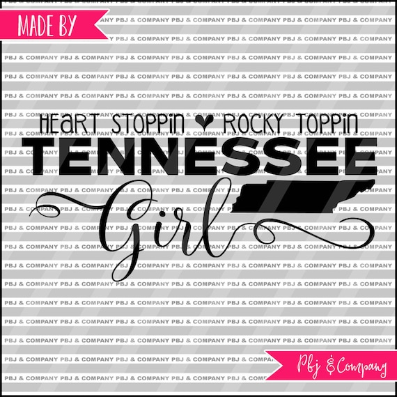 Tennessee Girl Quote DIY Cutting File SVG PNG jpeg pdf | Etsy