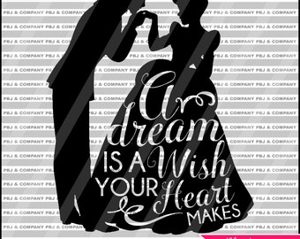 Cinderella svg, Princess svg, Quote DIY Cutting File - SVG, PNG, jpeg, pdf Files - Silhouette Cameo/Cricut