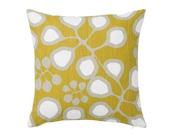 Botanical Cushion- Yellow Pillow- Scandinavian Pillow- Mustard Cushion- Floral Cushion- Scandinavian Cushion- Modern Pillow- Throw Pillow