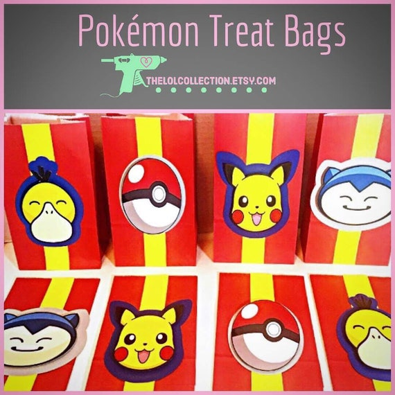 Pokemon Treat Bags Party Favors Gift Kids
