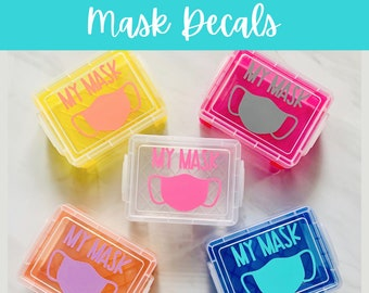 DECALS | Mask Decals | Decals for Mask Case | Waterproof Stickers | Perfect for School