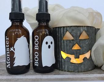 Halloween Spray Bottle Labels for Essential Oils