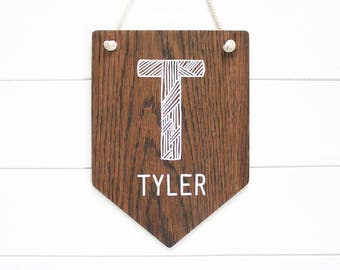 Custom Banner. Wooden Wall Sign Personalized Banner