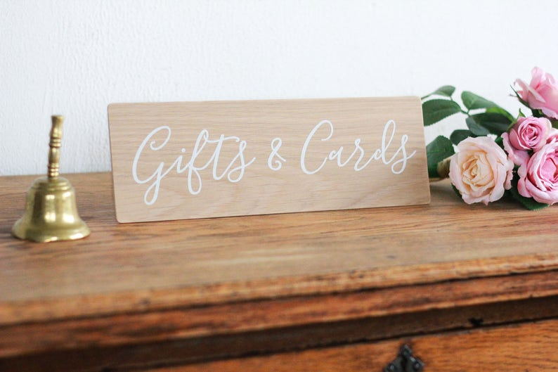 Gifts and Cards Wooden Sign Wedding Sign Rustic Wedding image 0