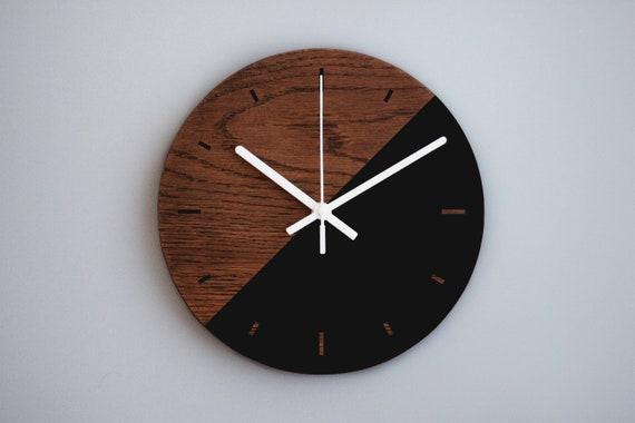 Modern Wall Clock 10 inch, Wooden Clock, Kitchen Clock, Art Wall Clock,  Office Decor, Non-Ticking Clock, Wood Wall Decor, Wooden Gift