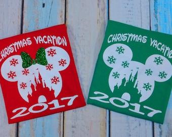disney family shirts disney vacation disney matching christmas shirts disney holiday disney castle family matching shirts