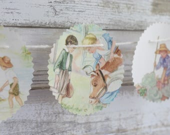 A Child's Garden of Verses Paper Bunting Banner Pennant Garland