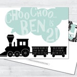alphabet train birthday invitation, abc birthday invitation, train birthday invitation, alphabet invitation