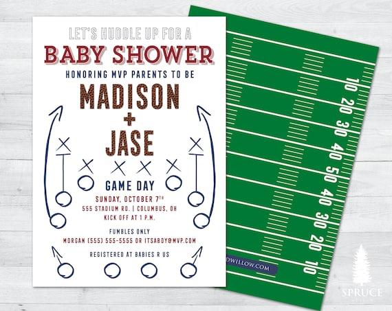 Football Baby Shower Invitations Football Shower Invitation