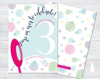 bubble birthday invitation, bubble birthday party, bubble invitation, bubble birthday party invitation, bubble party invitation