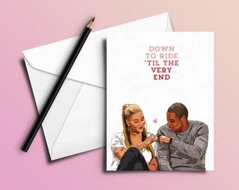 Jay-Z Birthday Card 'Bonnie & Clyde' (Hip Hop / Rap Cards) Valentines / Anniversary / Birthday