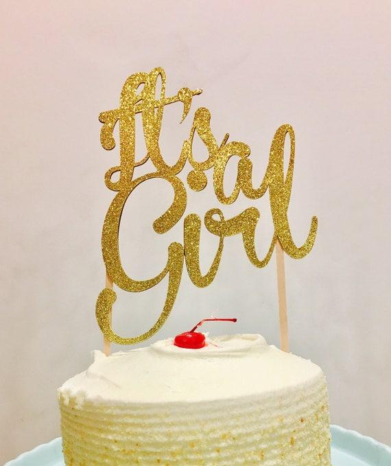 It\'s a girl cake topper its a girl cake topper Girl cake   Etsy