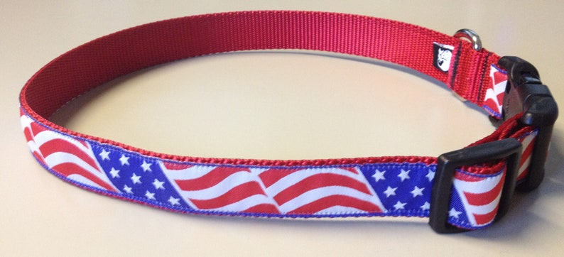 US Flag Dog Collar