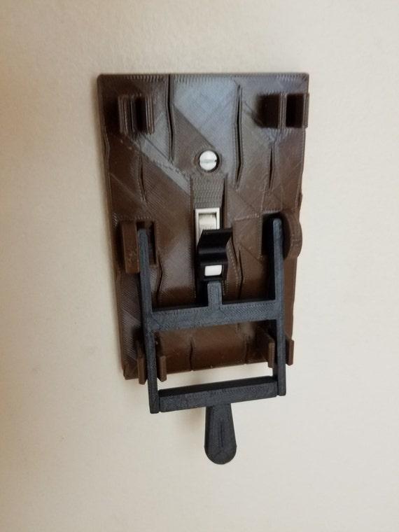 Steampunk Dual Frankenstein couteau Interrupteur de lumière plaque Cover Flip Poignée-Noir