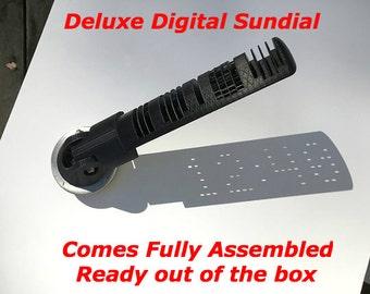 Digital Sundial | 3D Digital Sundial | Garden Sundial | Outdoor Sundial | Portable Sundial | Pocket Sundial | Digital 3D Printing | Clock