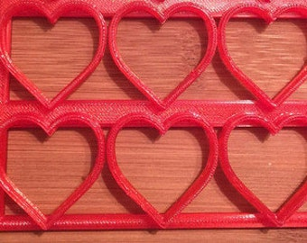 Heart Cookie Cutter Half Sheet